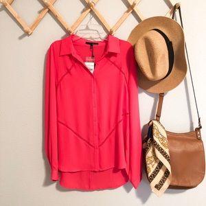 🎄 Ro&De NWT pink chiffon top
